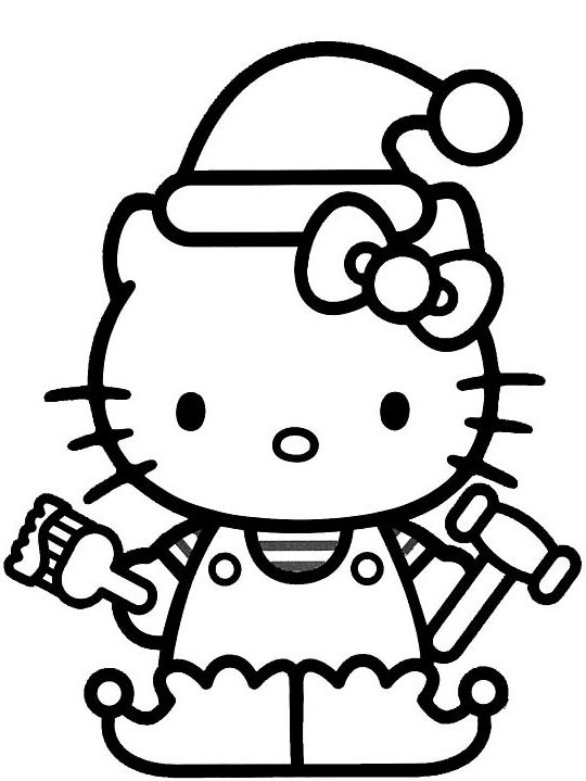 christmas hello kitty coloring pages xmas coloring pages kitty coloring pages christmas hello