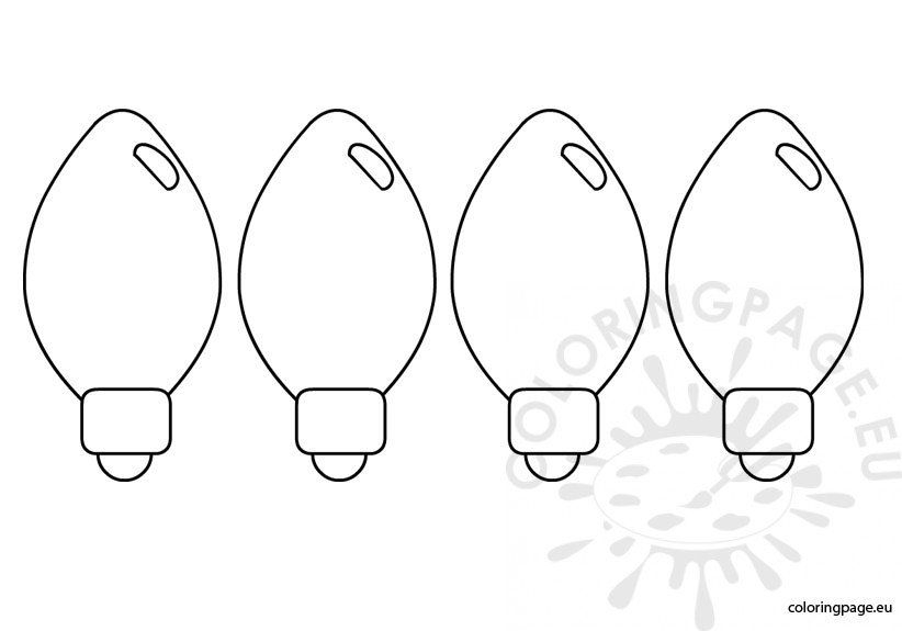 christmas lights color pages image result for line drawing of christmas tree light bulb pages color lights christmas