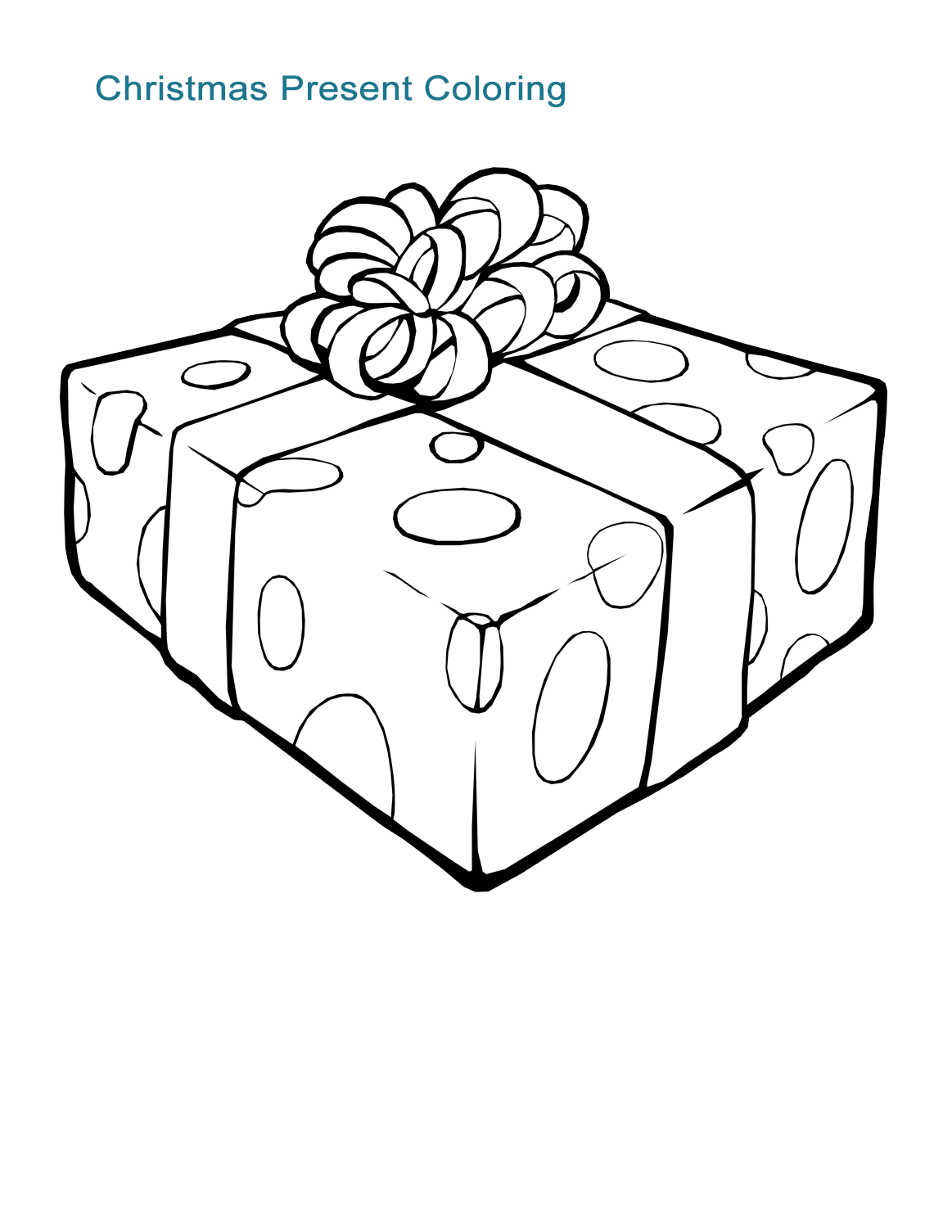 christmas present coloring page craftsactvities and worksheets for preschooltoddler and christmas page present coloring