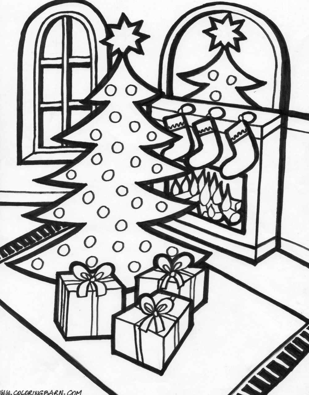christmas present coloring page stained glass christmas to color black and white clipart christmas present coloring page