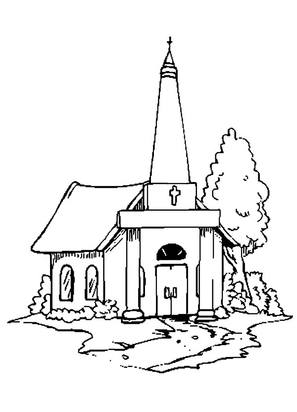 church coloring sheet church coloring pages to download and print for free coloring church sheet 1 1