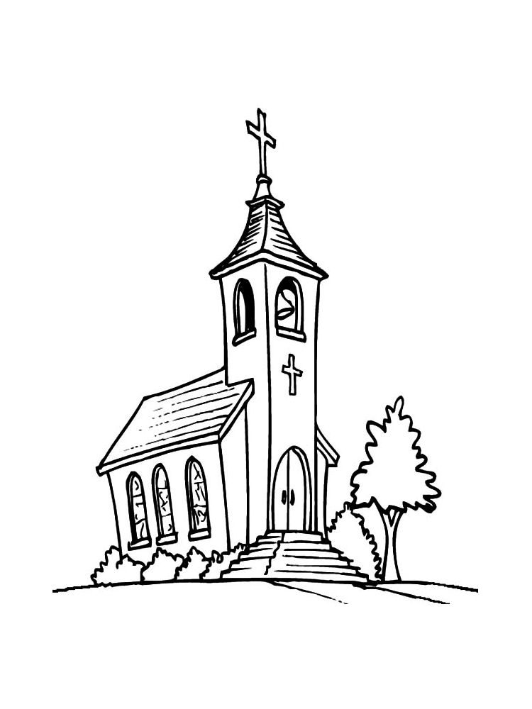 church coloring sheet church coloring pages to download and print for free sheet coloring church