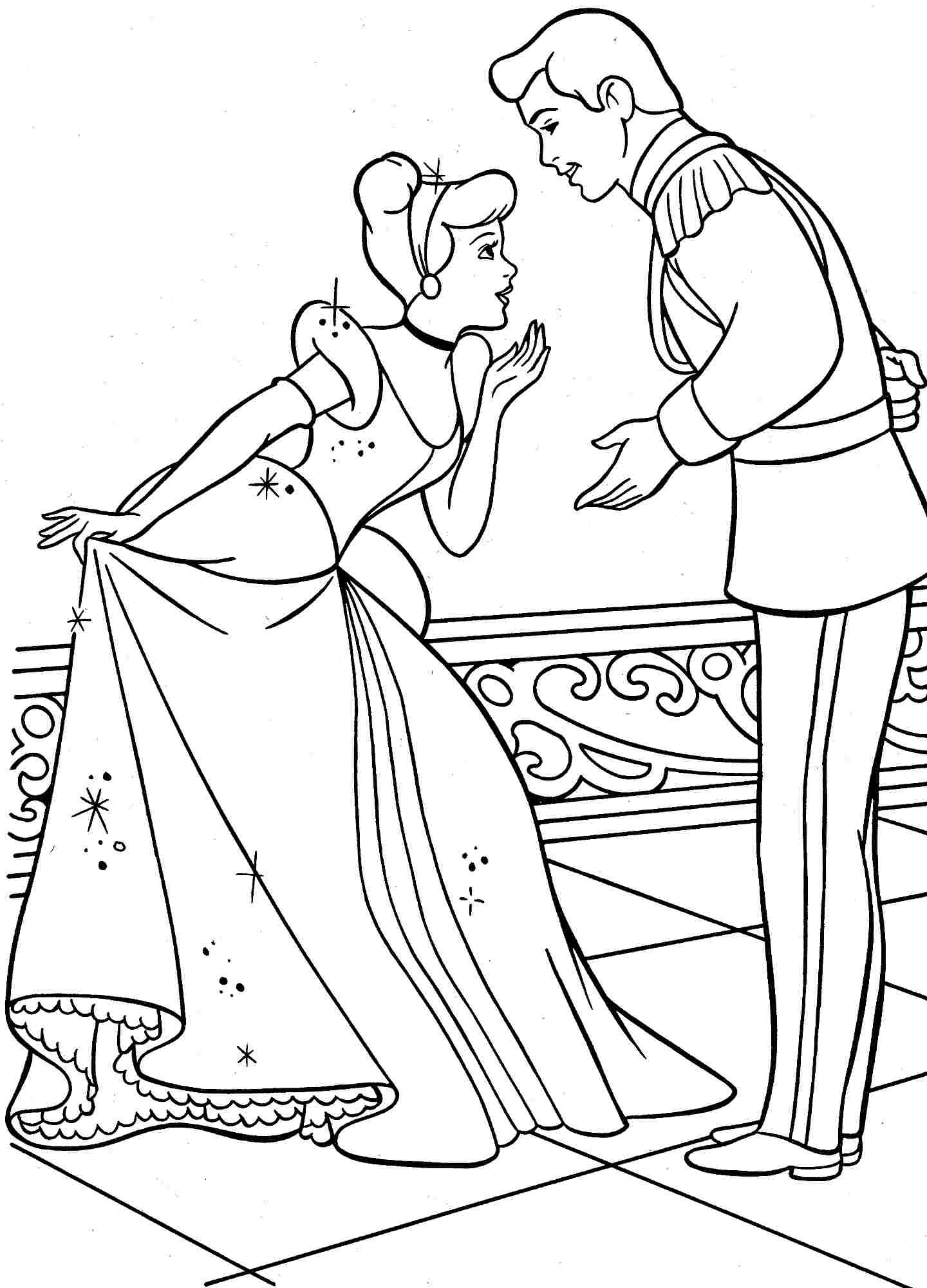 cinderella drawing for coloring cinderella 129576 animation movies printable coloring cinderella coloring drawing for