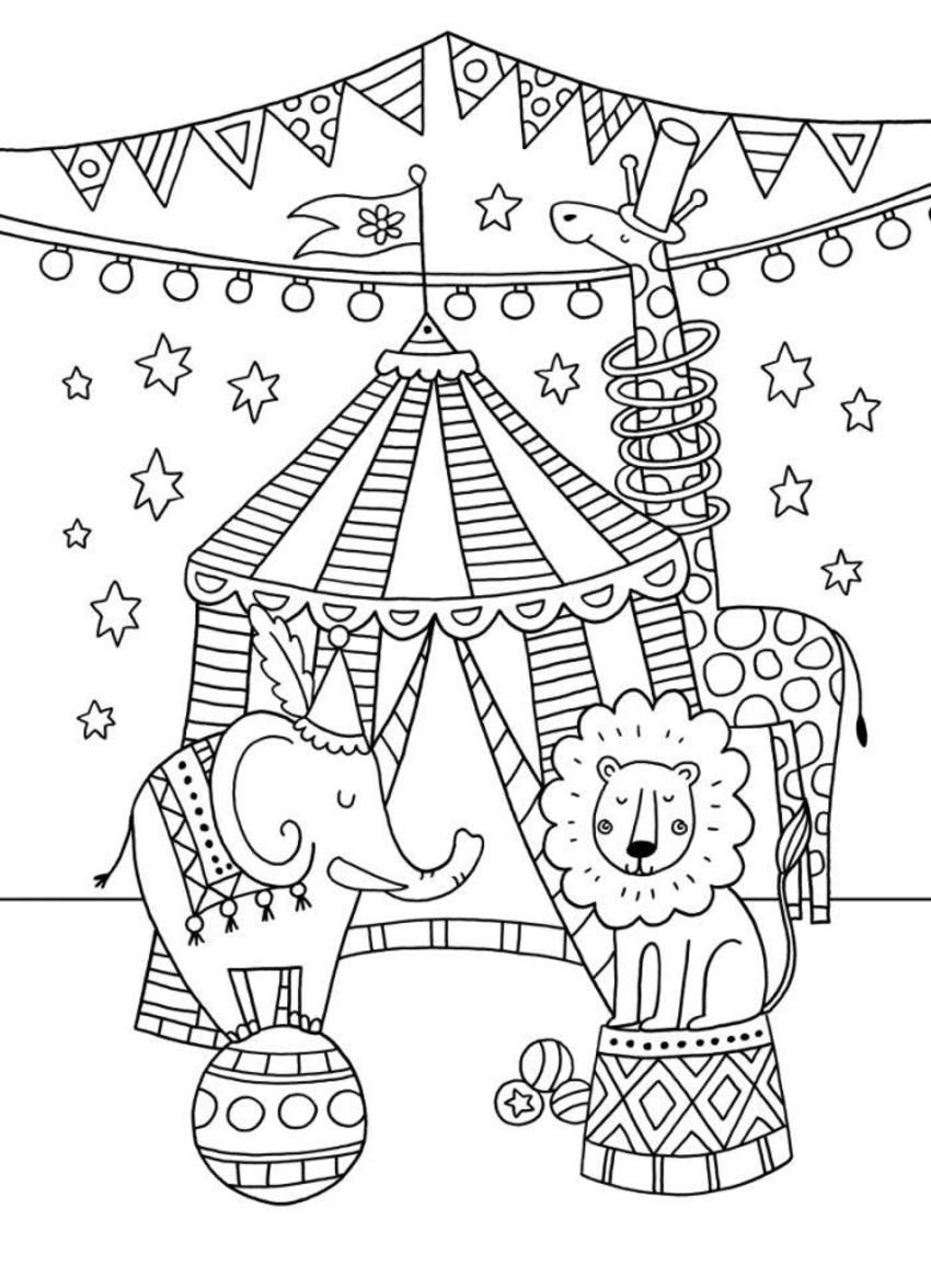 circus coloring pages for preschool carnival coloring pages best of printable circus pages coloring preschool circus for