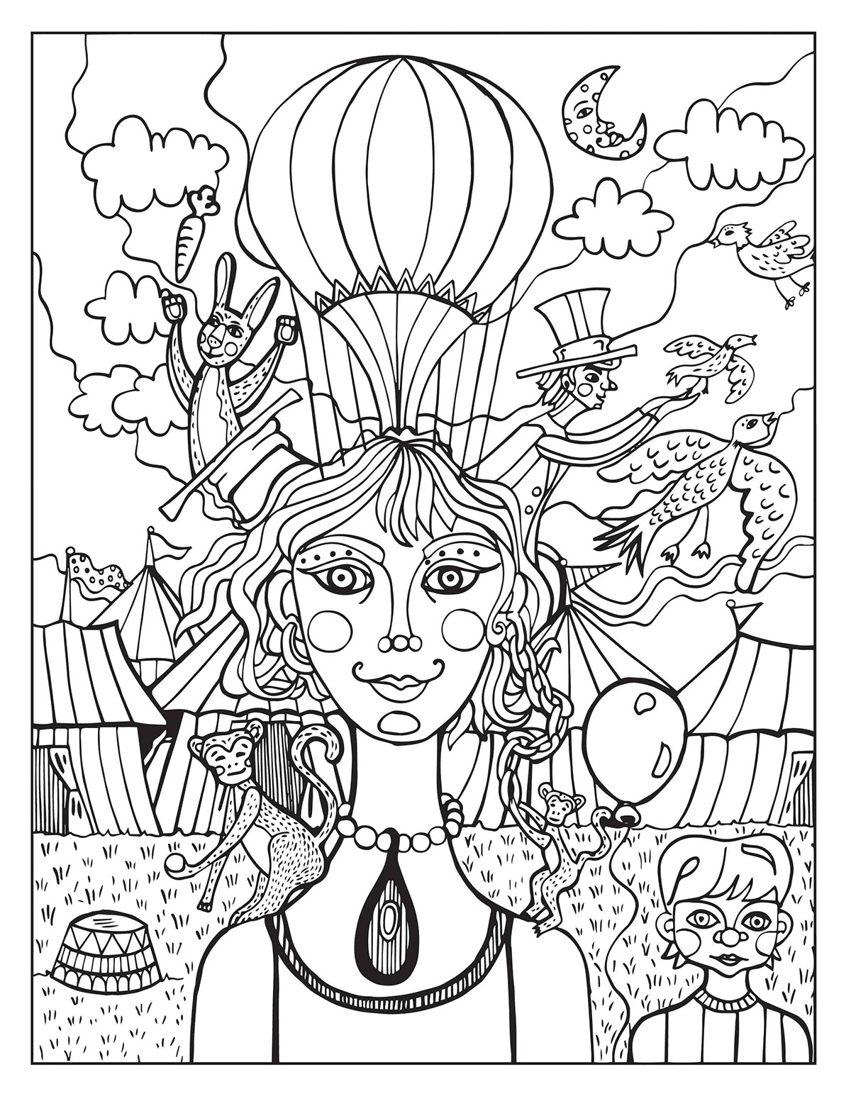 circus coloring pages for preschool circus coloring pages for preschool at getcoloringscom circus pages coloring for preschool