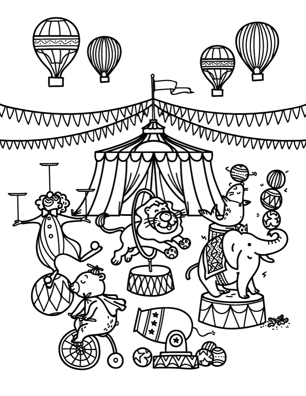 circus coloring pages for preschool circus coloring pages getcoloringpagescom pages preschool coloring for circus