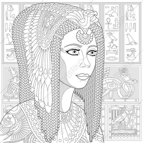 cleopatra coloring page adult coloring pages cleopatra zentangle doodle coloring cleopatra coloring page