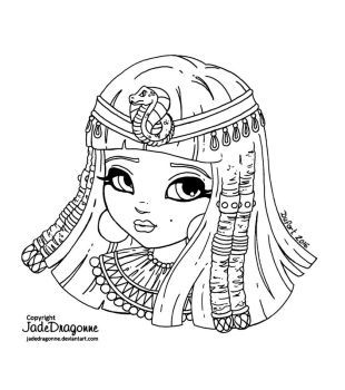 cleopatra coloring page cleopatra lineart by jadedragonne colorful drawings cleopatra page coloring
