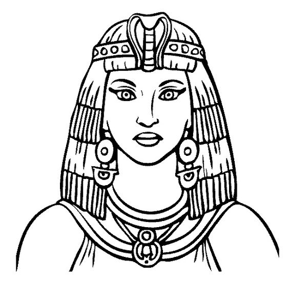 cleopatra coloring page pinterest the worlds catalog of ideas coloring page cleopatra