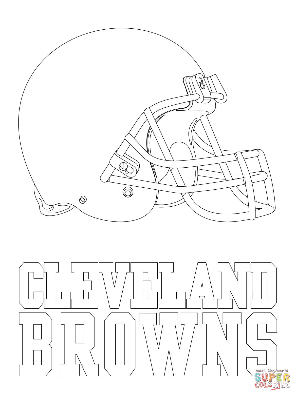 cleveland browns coloring pages cleveland browns colouring page coloring home cleveland pages coloring browns