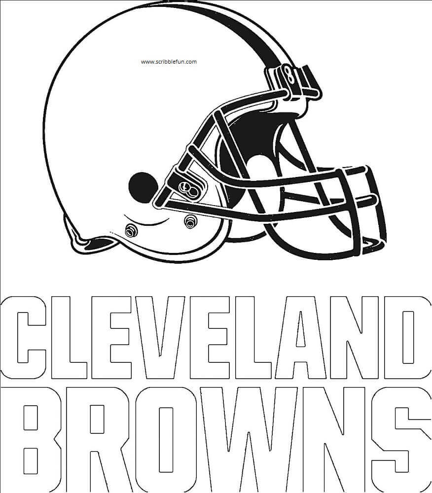 cleveland browns coloring pages cleveland browns logo coloring page free printable pages browns coloring cleveland