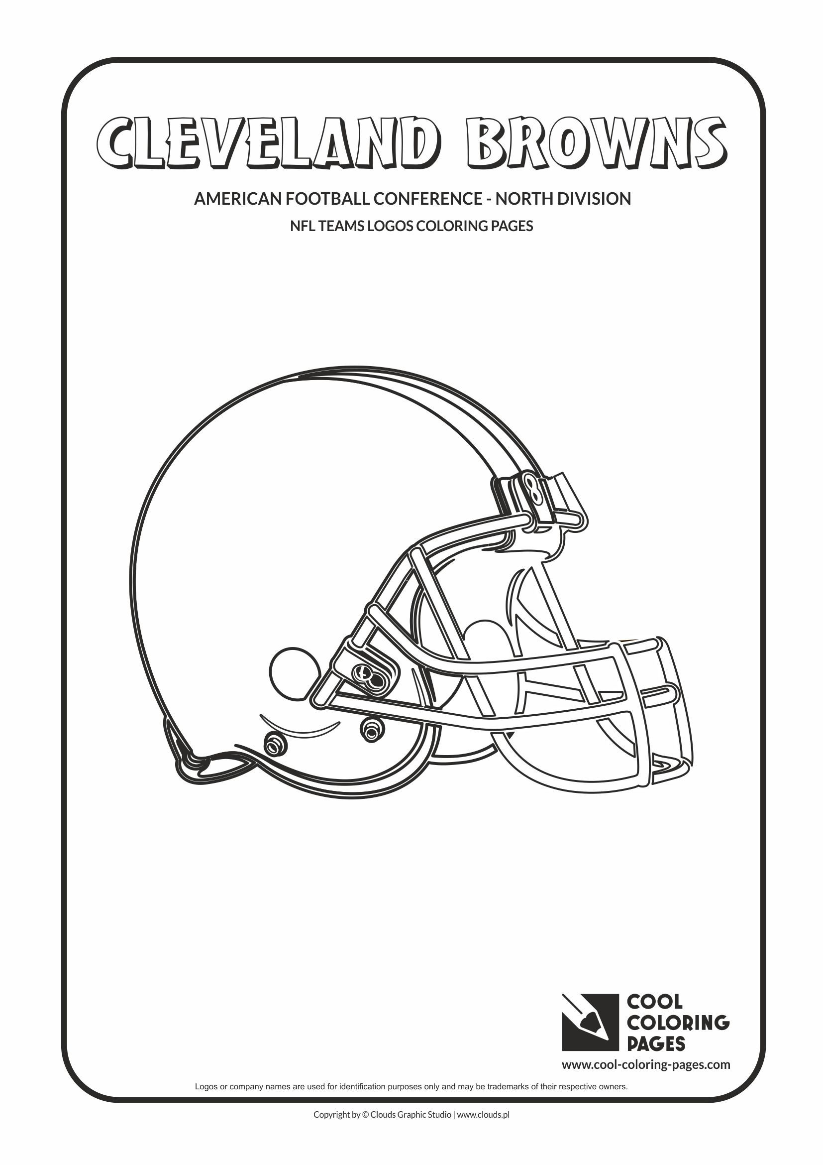 cleveland browns coloring pages cool coloring pages nfl american football clubs logos pages cleveland coloring browns