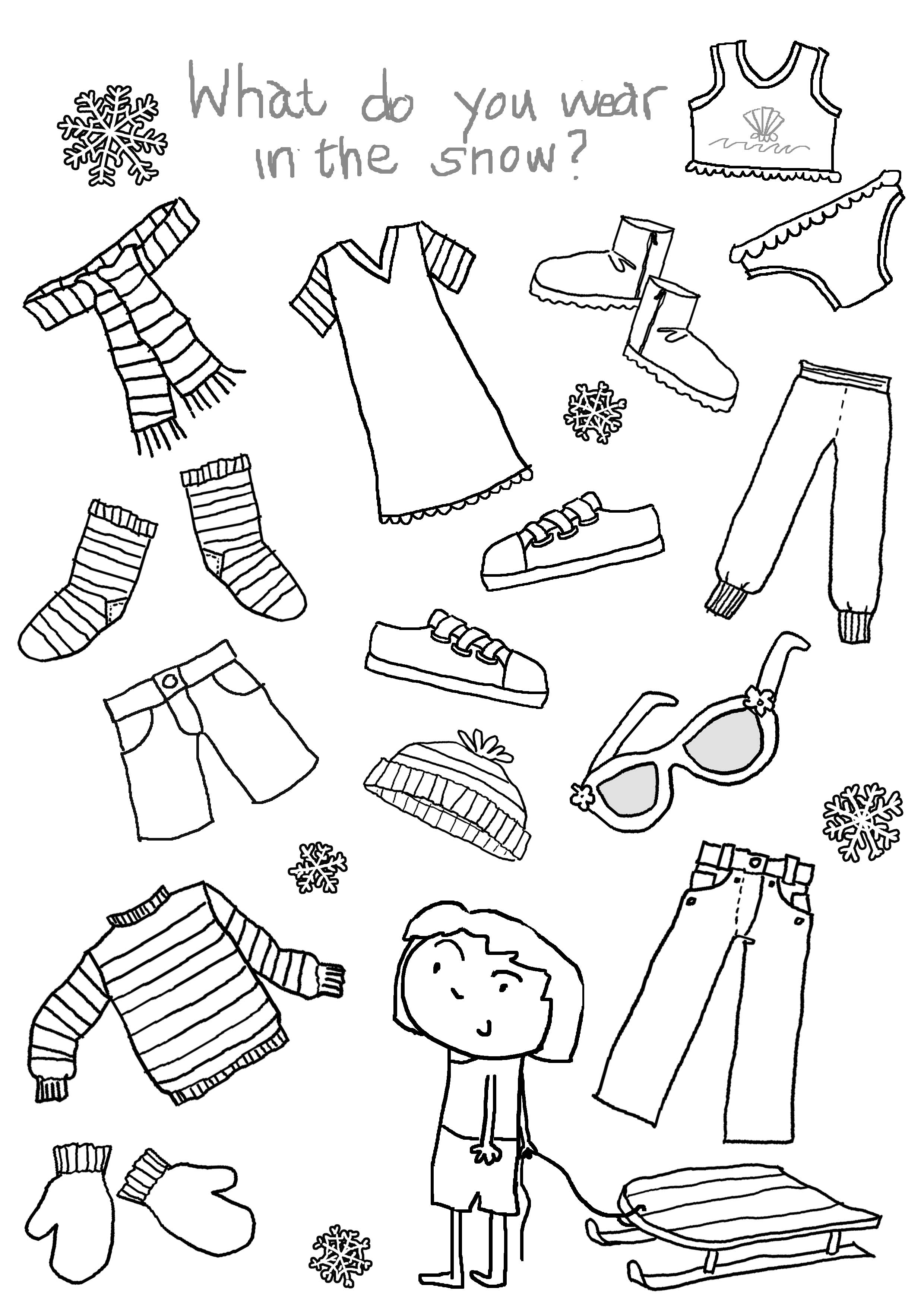 clothing coloring pages winter clothes coloring pages to download and print for free clothing coloring pages