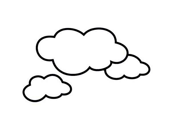 cloud coloring pages clouds picture coloring page netart coloring cloud pages