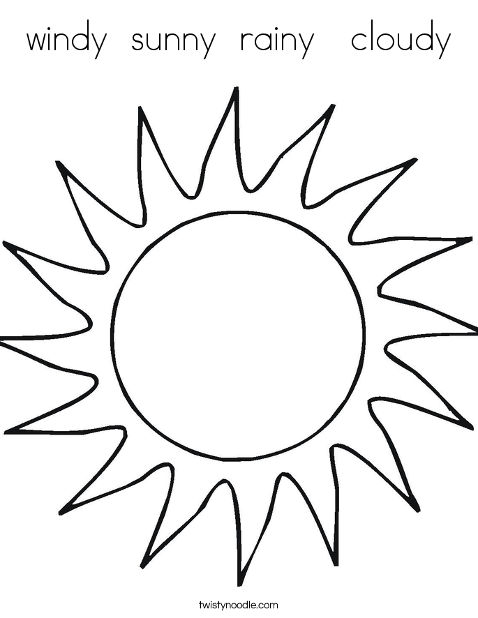 cloudy day coloring pages windy sunny rainy cloudy coloring page twisty noodle cloudy day pages coloring