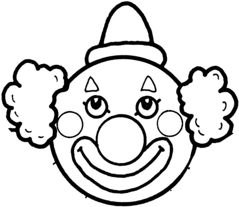 clown face coloring page clown face coloring pages coloring pages to download and face clown page coloring