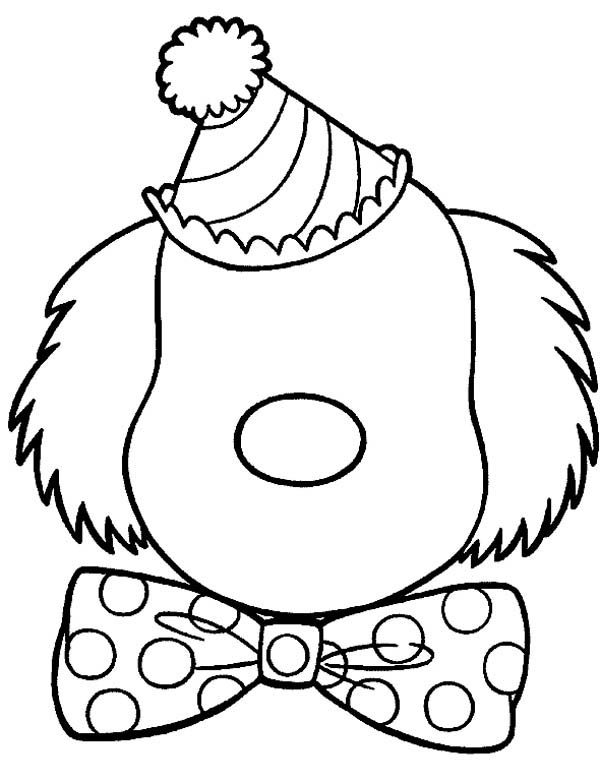 clown face coloring page clown face drawing at getdrawings free download clown page coloring face