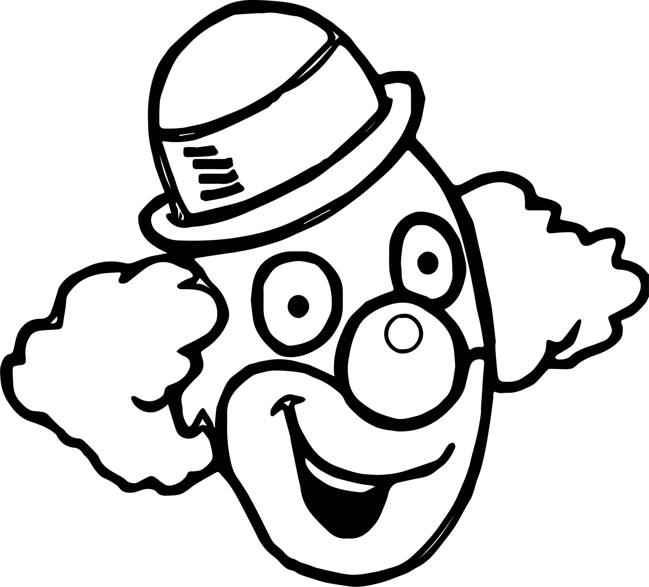 clown face coloring page clown face drawing at getdrawings free download coloring clown face page