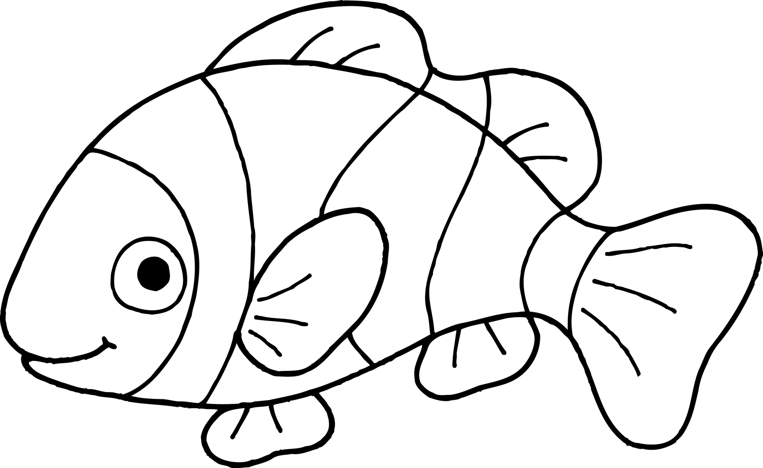 clown fish drawing fish drawing outline free download on clipartmag clown drawing fish