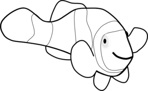 clownfish drawing clown fish outline clip art at clkercom vector clip art drawing clownfish