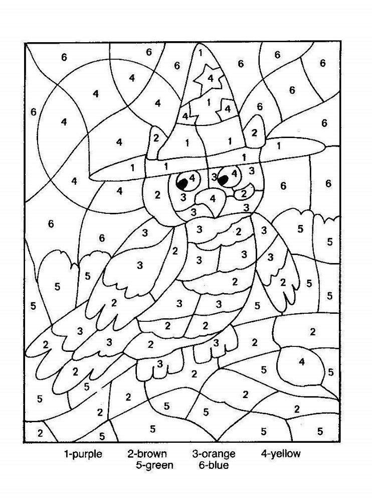 color by number coloring color by number mosaic printable activity shelter number color coloring by