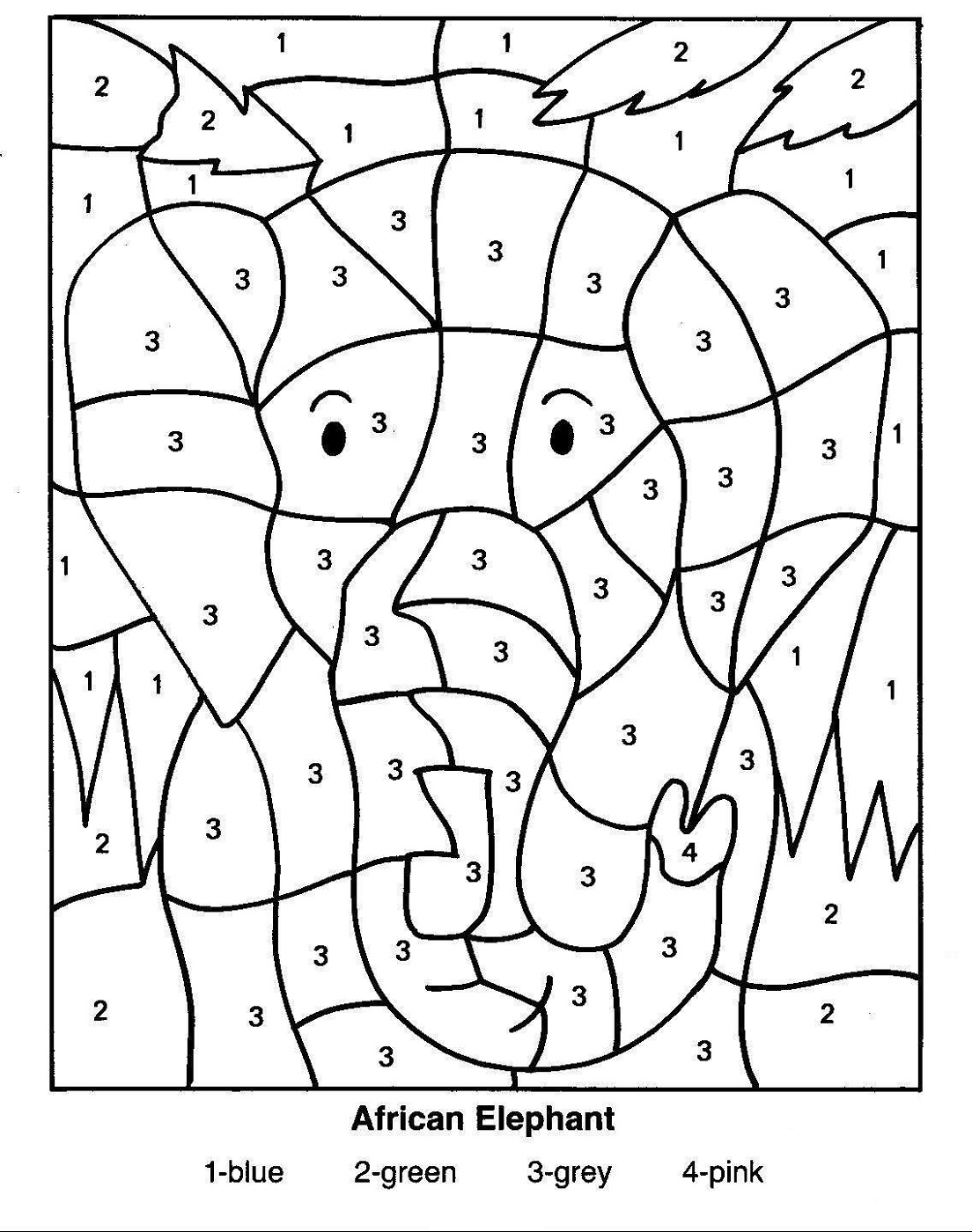 color by number coloring free color by numbers worksheets activity shelter coloring by color number