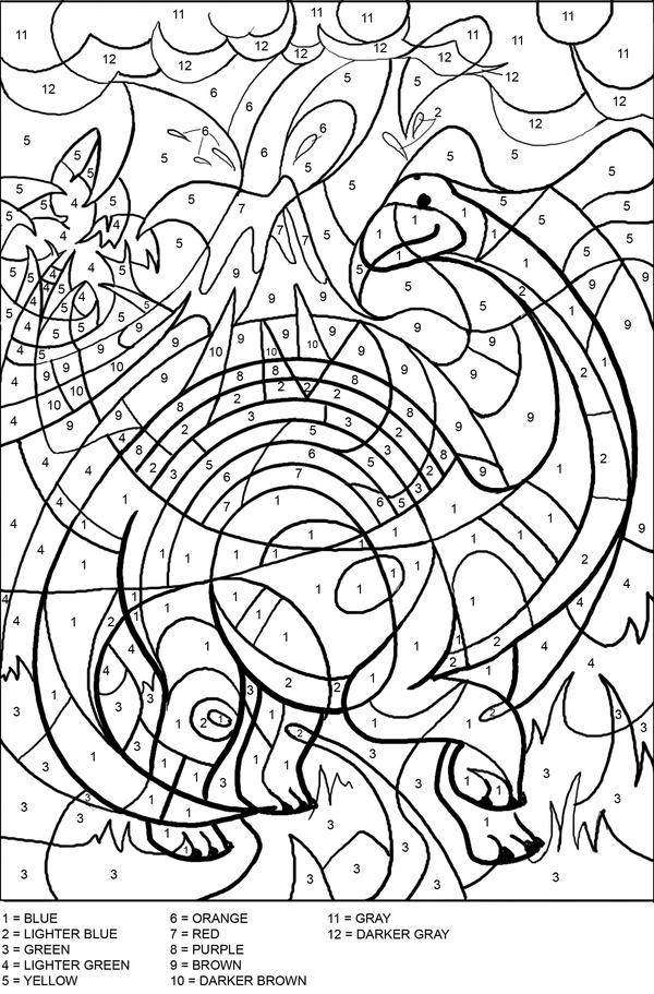 color by number coloring free printable paint by numbers for adults coloring home color by coloring number