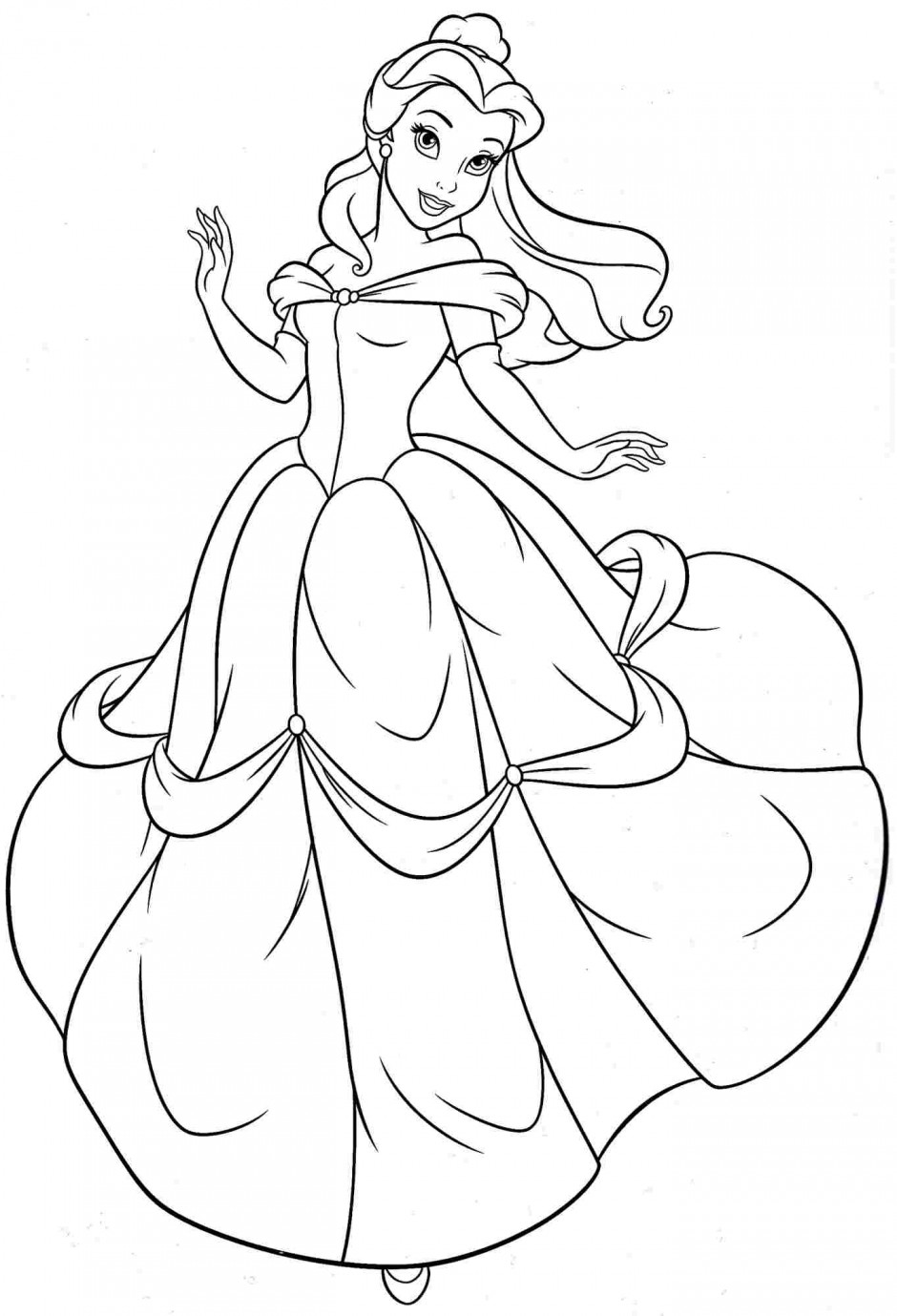 color in pages free printable belle coloring pages for kids pages in color