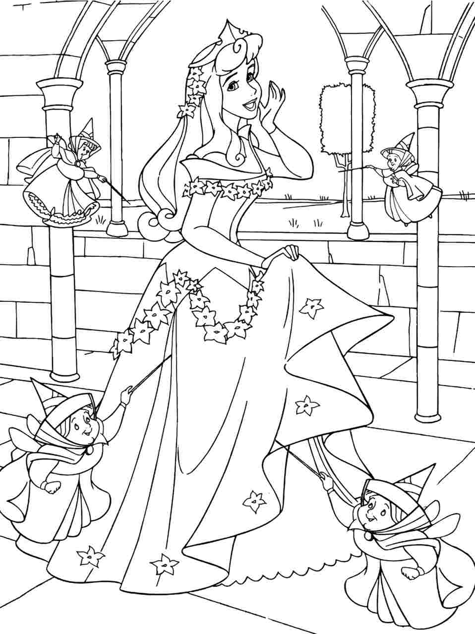 color in pages free printable sleeping beauty coloring pages for kids in pages color