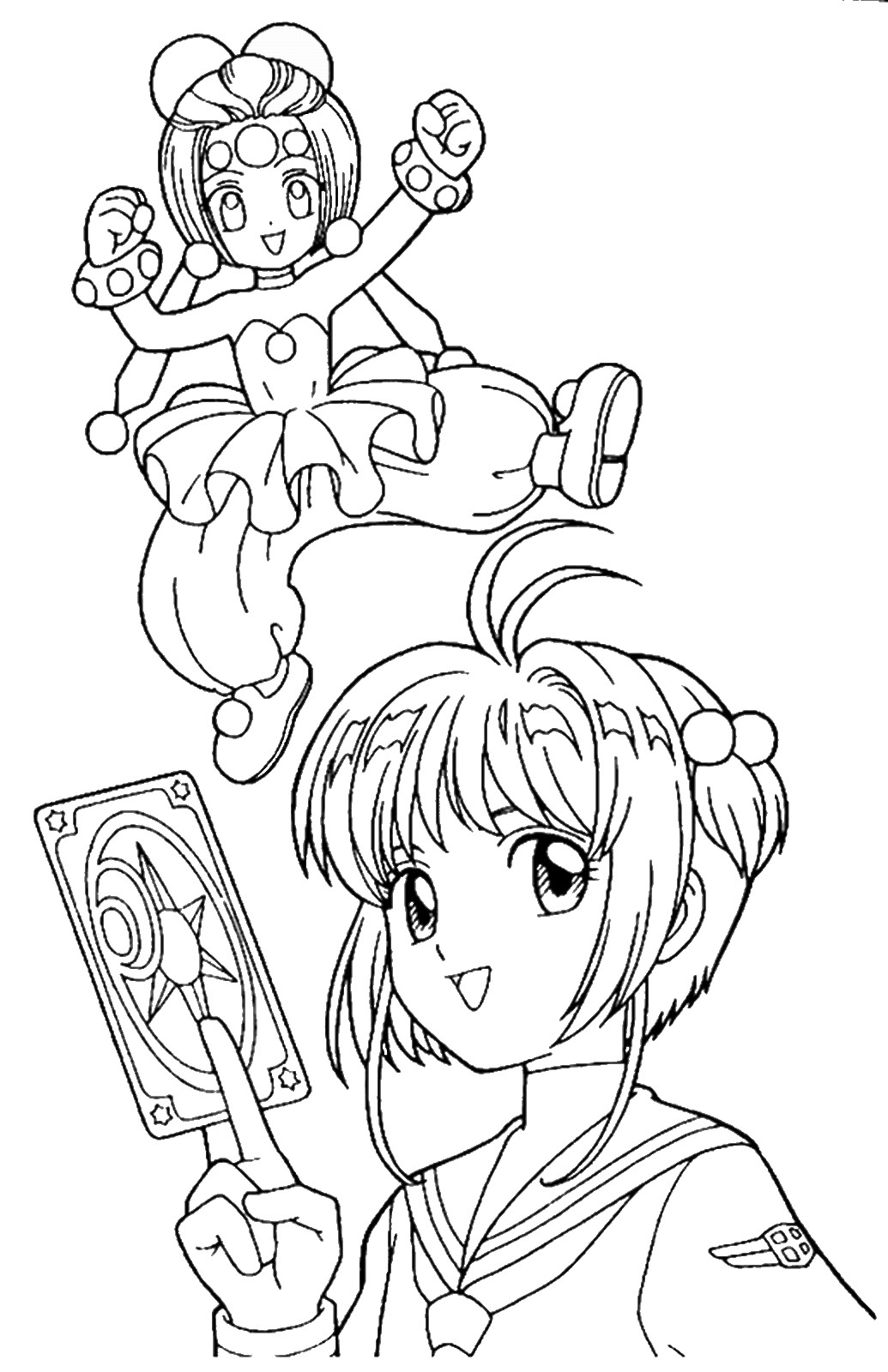 color in pages sakura coloring pages pages color in