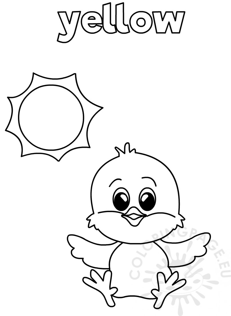 color in pages yellow coloring worksheet for kindergarten coloring page pages color in