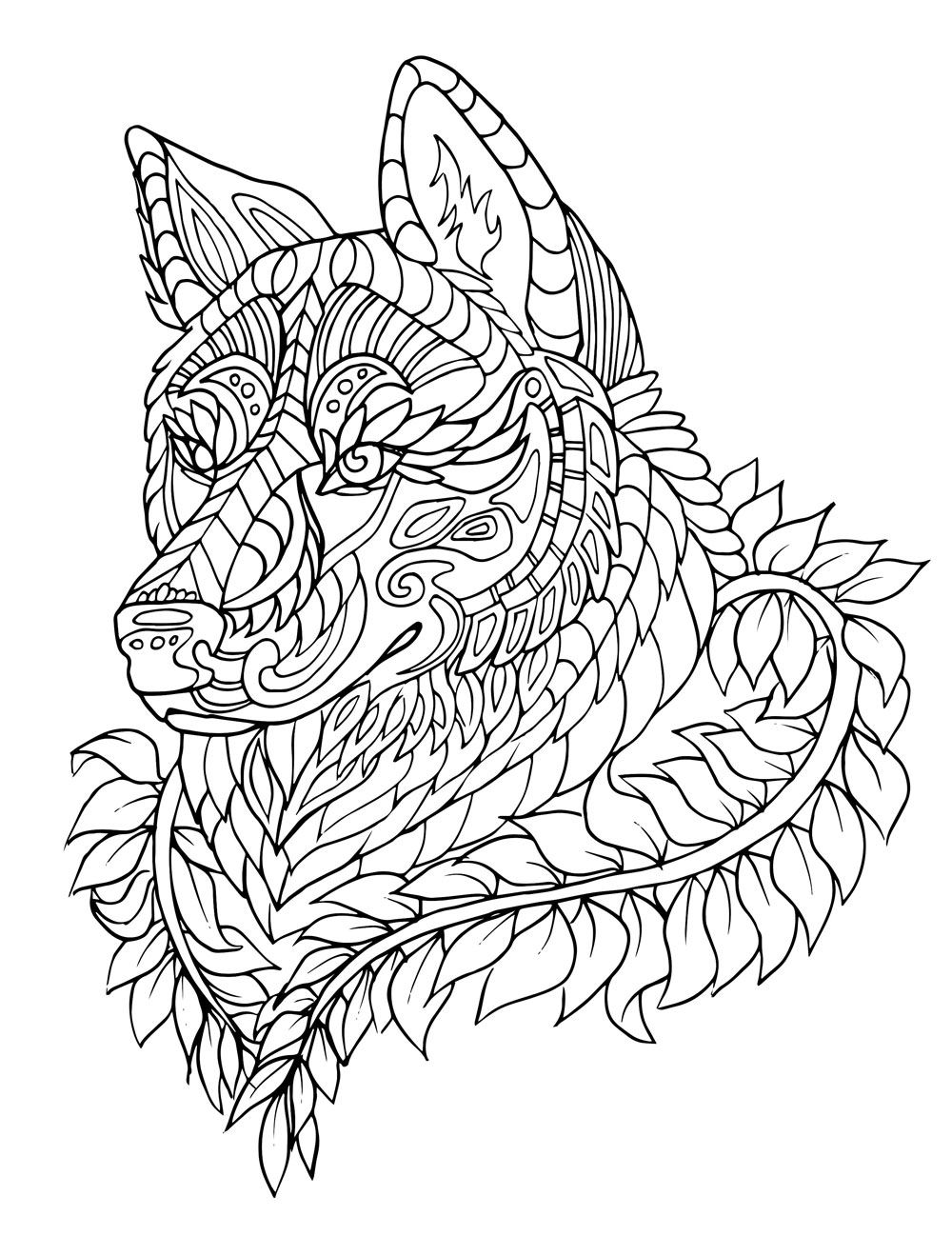 color in wolf cool wolf coloring pages at getcoloringscom free wolf color in