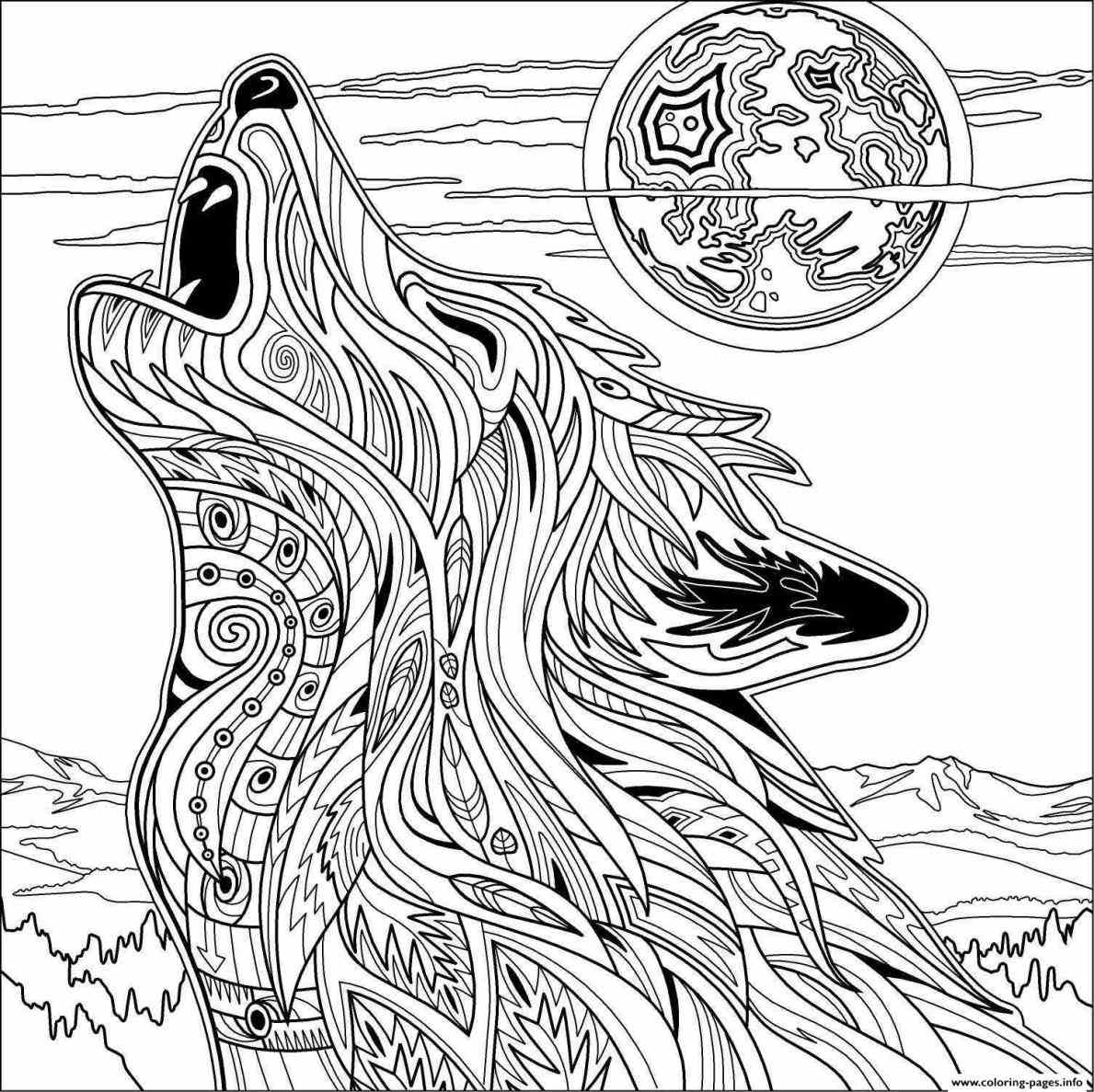 color in wolf mandala wolf coloring pages at getcoloringscom free color wolf in