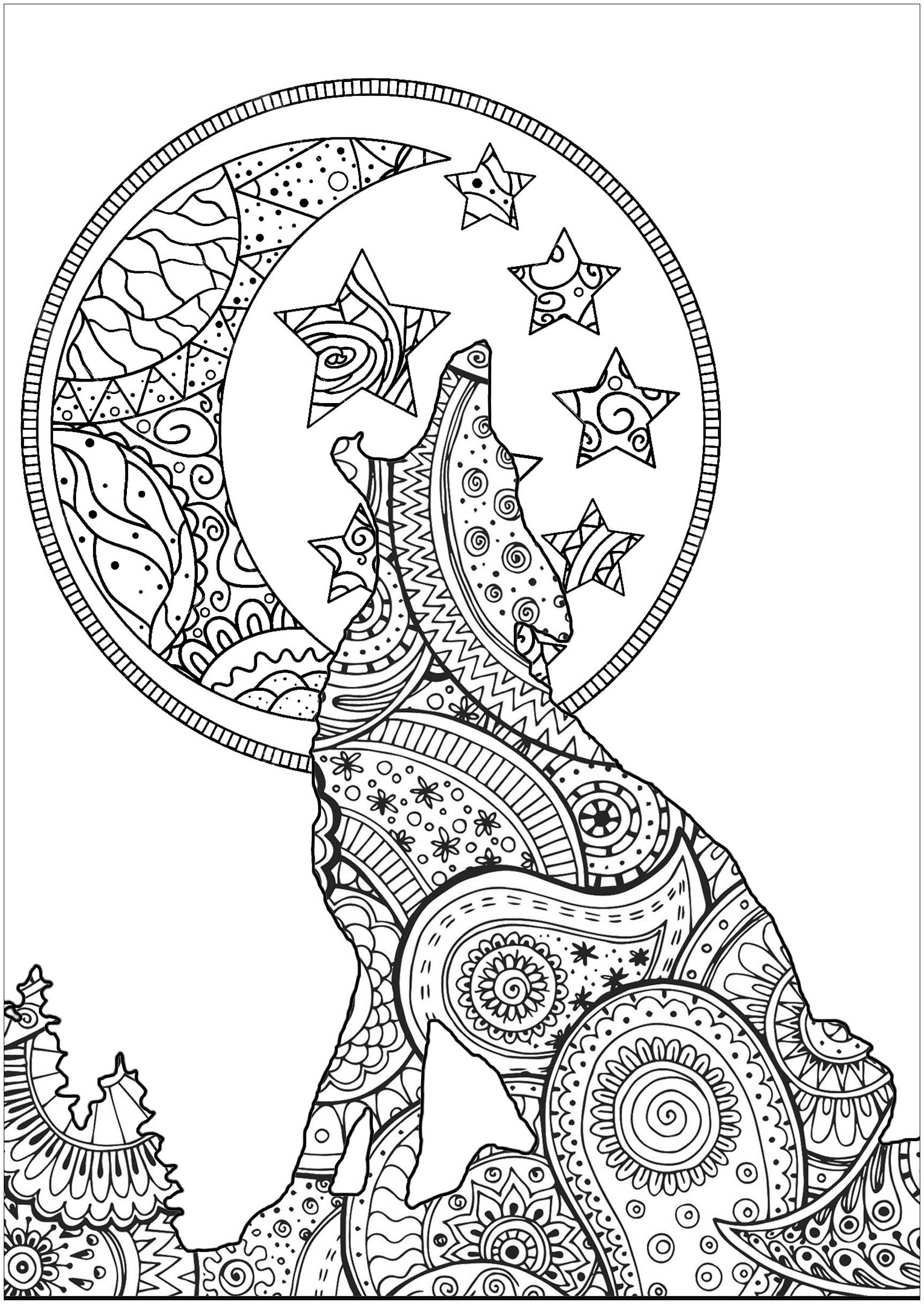 color in wolf wolf howling coloring pages at getdrawings free download color wolf in