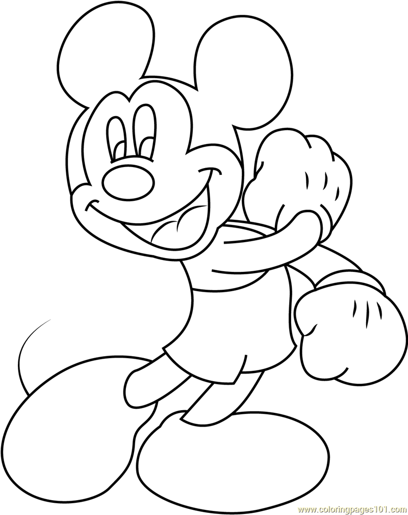 color mickey mouse joyful mickey mouse printable coloring page for kids and mickey mouse color