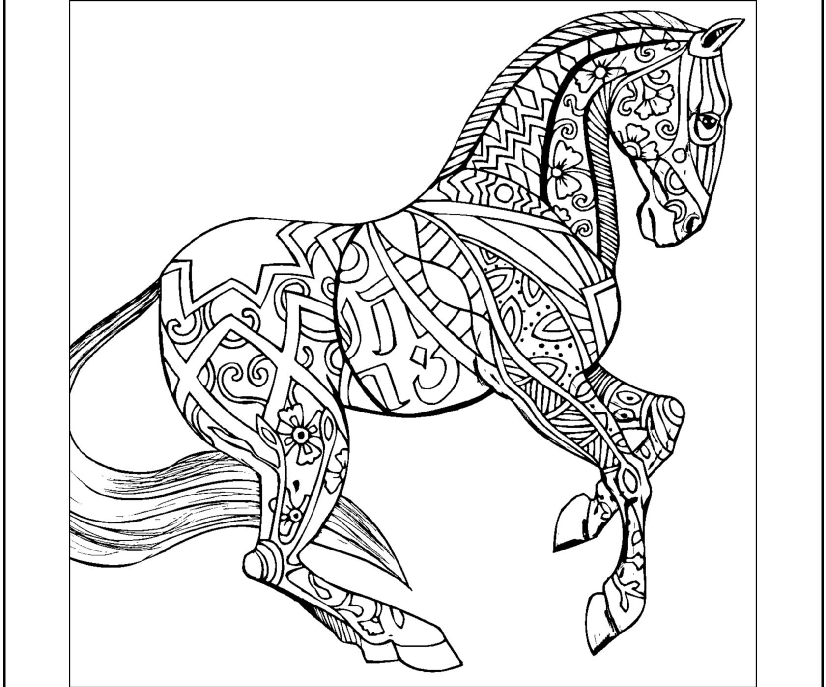 color pages of horses free printable horse coloring pages for adults coloring home color pages of horses