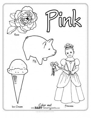 color pink coloring pages color pink worksheet everything preschool pinterest pages coloring pink color