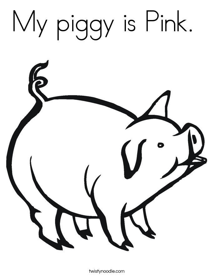 color pink coloring pages my piggy is pink coloring page twisty noodle pink color coloring pages