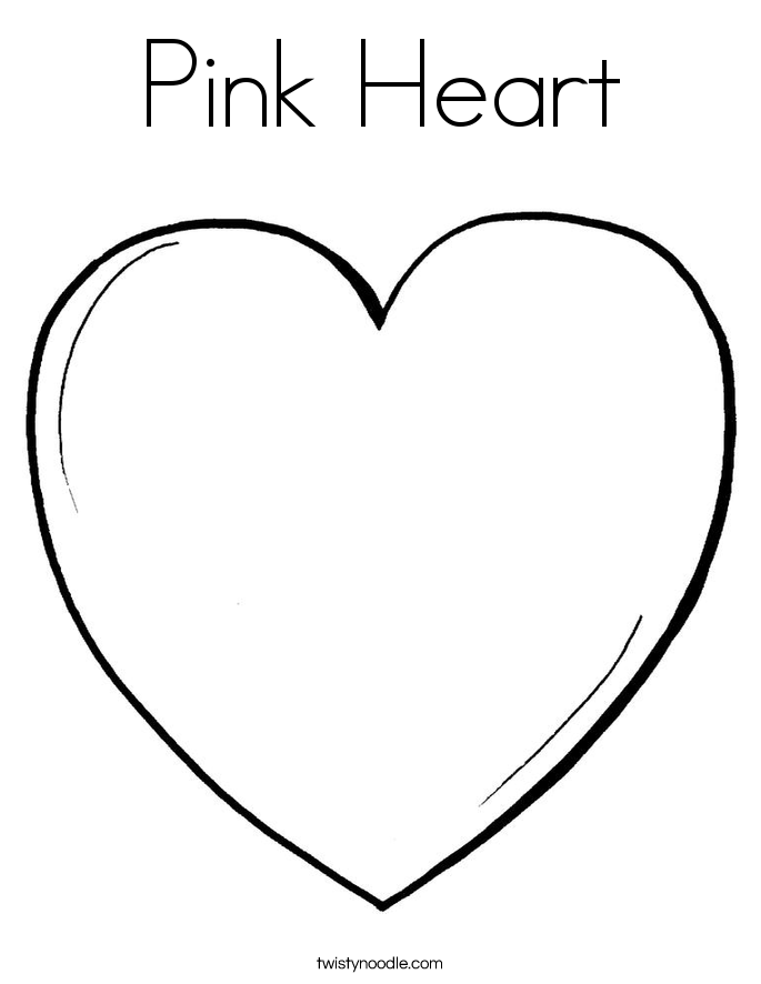 color pink coloring pages pink heart coloring page twisty noodle pink coloring pages color