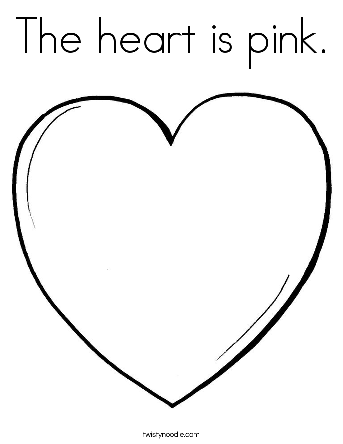 color pink coloring pages the heart is pink coloring page twisty noodle pink coloring pages color