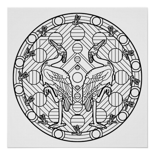 color your own mandala color your own flytrap mandala coloring poster zazzlecom mandala color own your