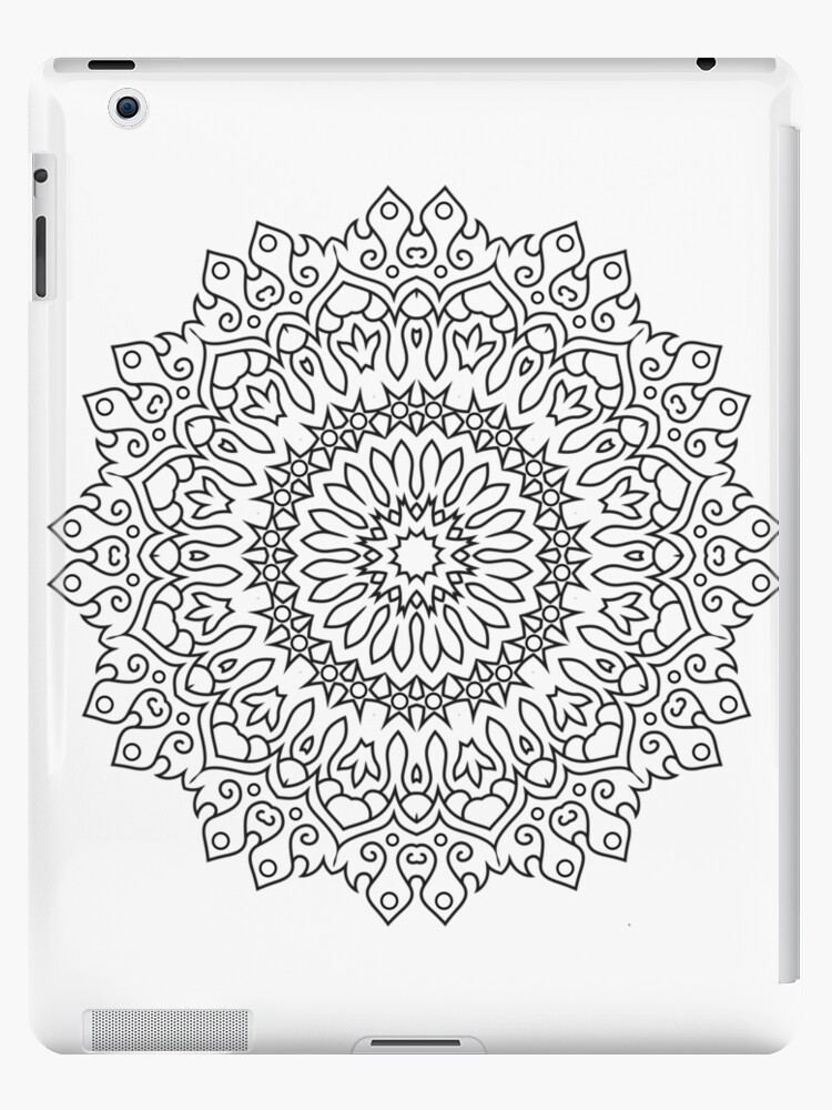 color your own mandala quotcolor your own mandala diy coloring book 04quot ipad cases color mandala your own