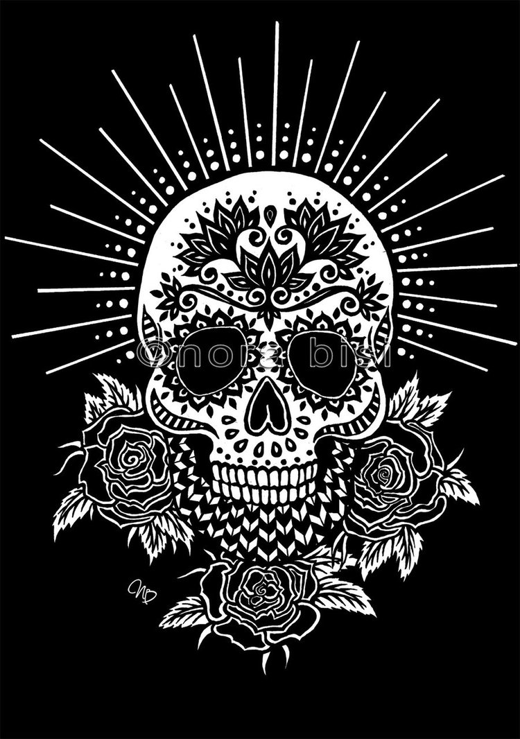 colorful sugar skull day of the dead sugar skull with detailed floral ornament skull sugar colorful