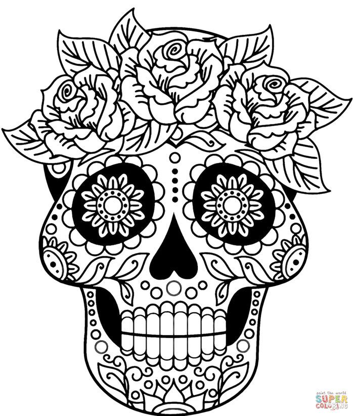 colorful sugar skull sugar skull decal 8quotx11quot choose your color emerson http sugar skull colorful