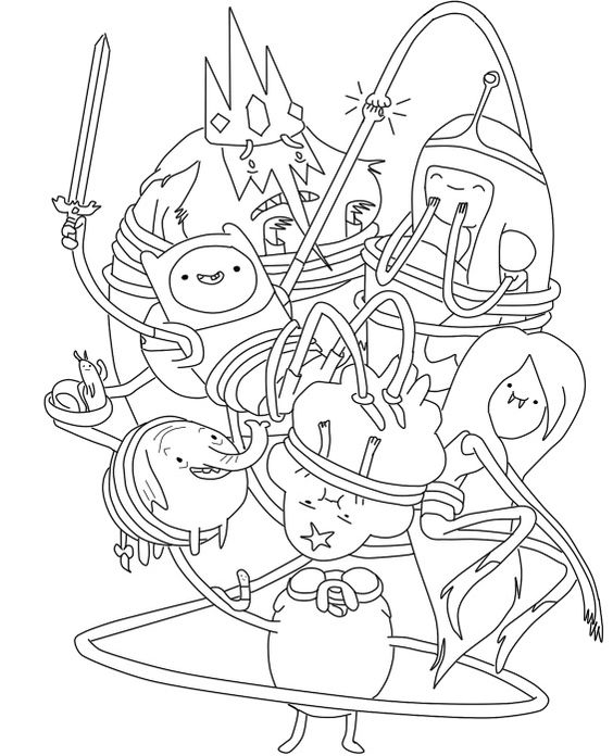 coloring adventure time adventure time coloring pages birthday printable adventure coloring time