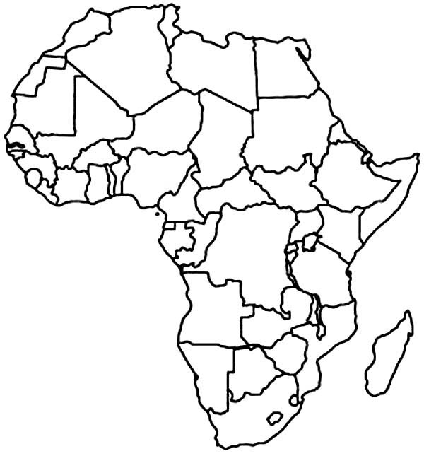 coloring africa africa map coloring pages at getdrawings free download africa coloring