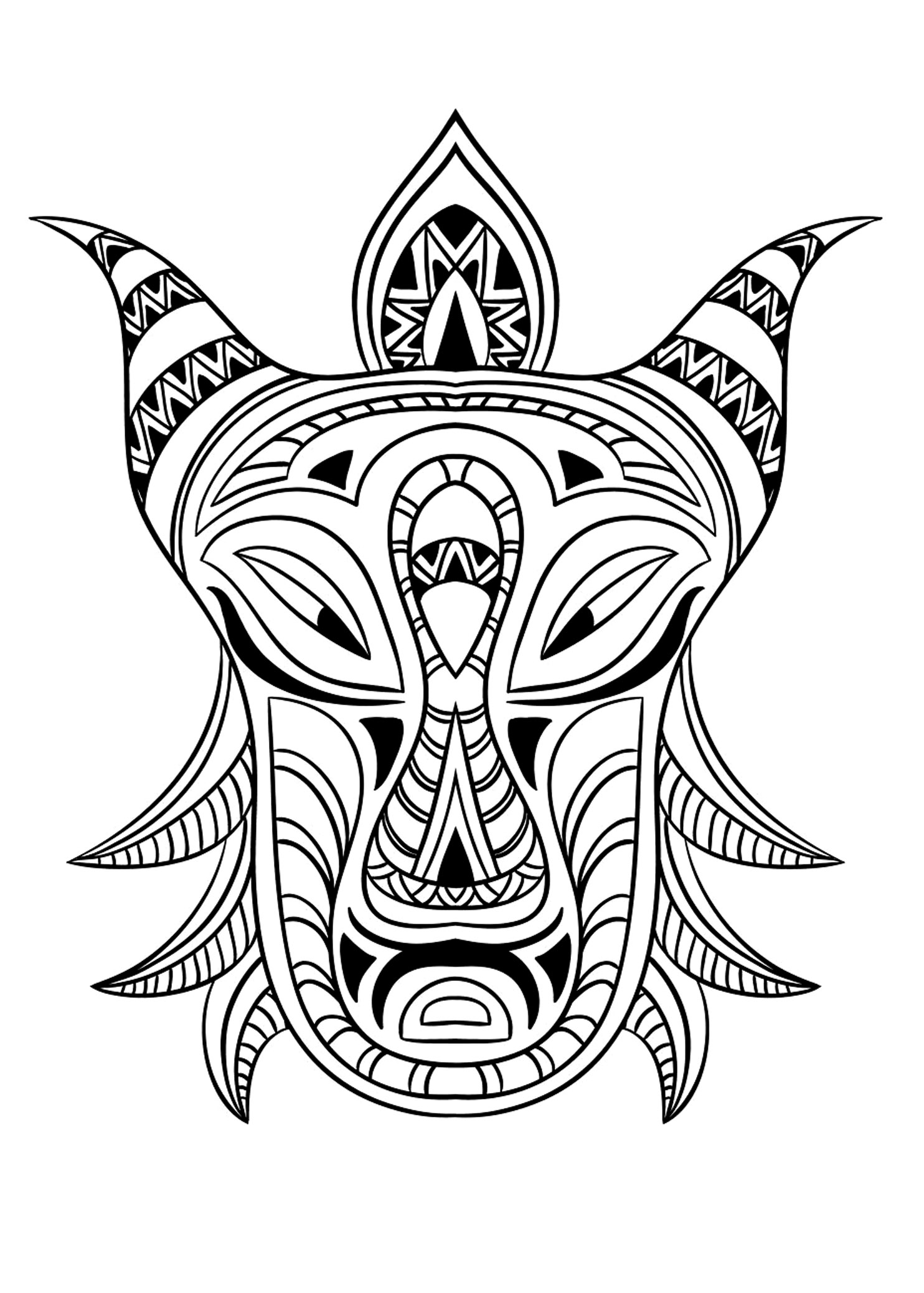 coloring africa african mask 5 africa adult coloring pages page 2 coloring africa