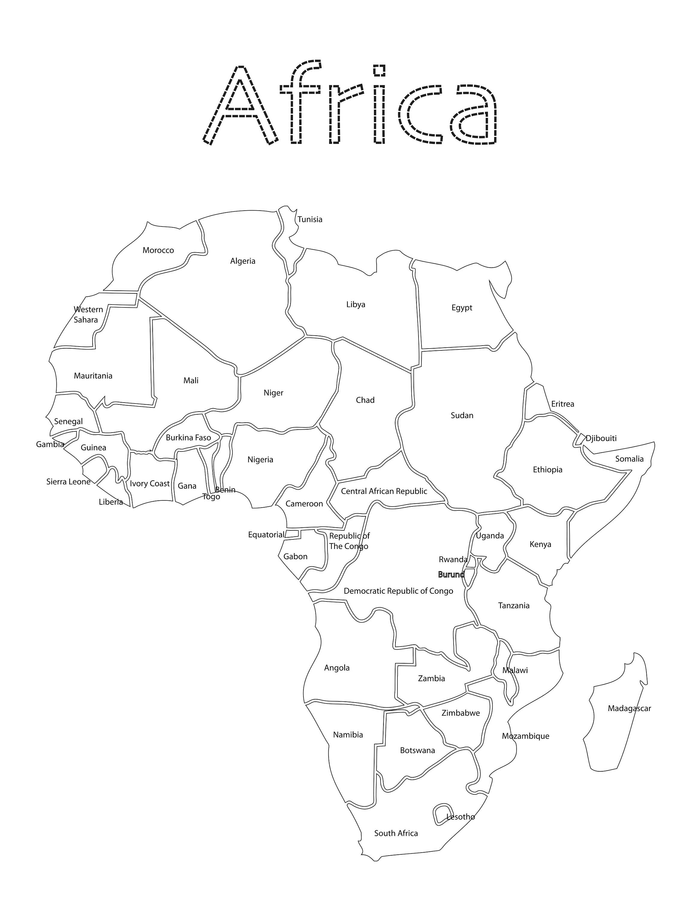 coloring africa montessori kids coloring pages of africa etsy coloring africa