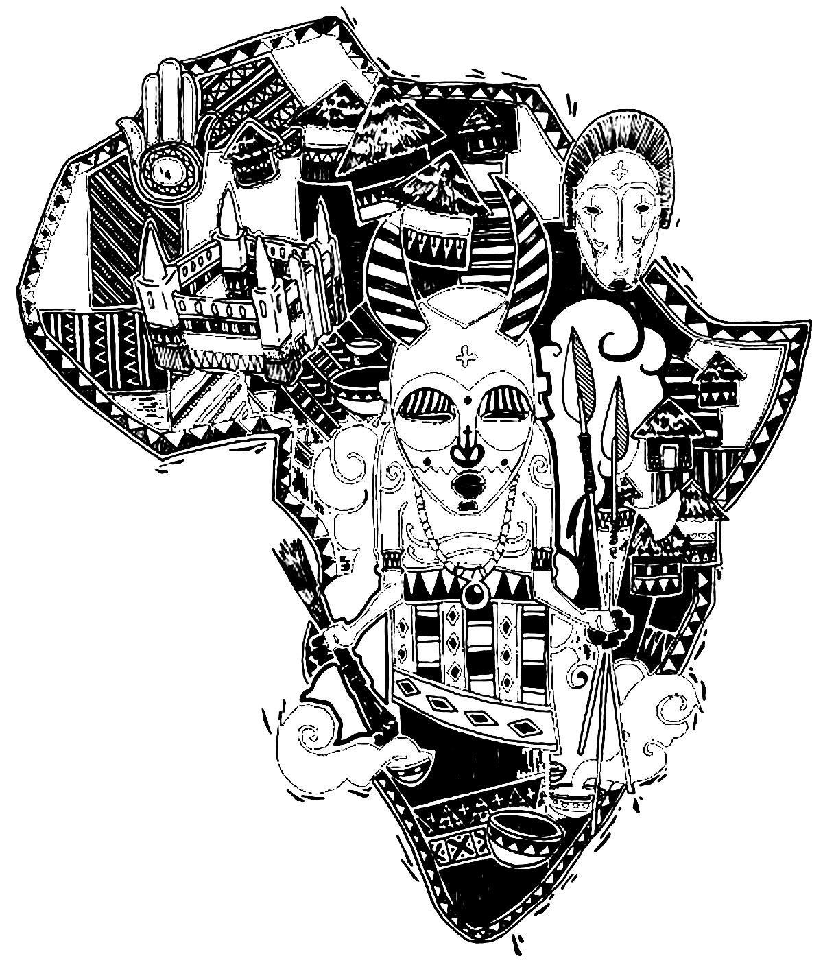 coloring africa the continent of africa coloring page coloring home coloring africa