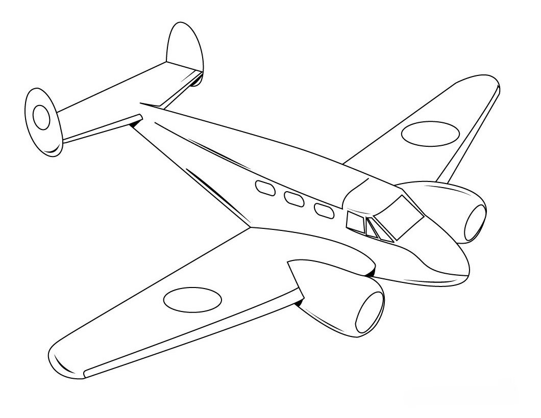 coloring airplane for kids airplane flying down coloring page for kids airplane for kids coloring